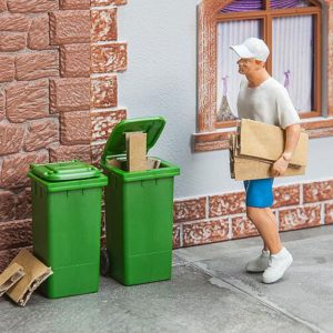 Product afbeelding 2 vuilnis containers groen