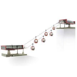 H0-Seilbahn D-Line Set rot schwarz